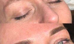 Brwi pudrowe makijaż permanentny